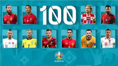 Ramos y Busquets, jugadores centenarios a 100 días de la UEFA EURO 2020