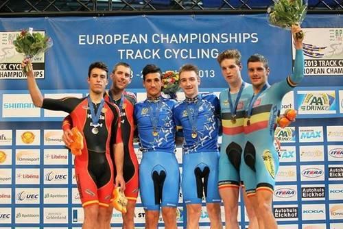 España logra siete medañas en la Copa de Europa de Ciclismo en Pista